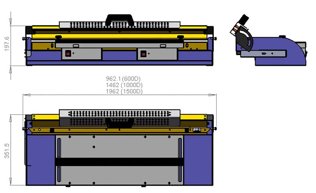 Schéma machine plieuse gamme D