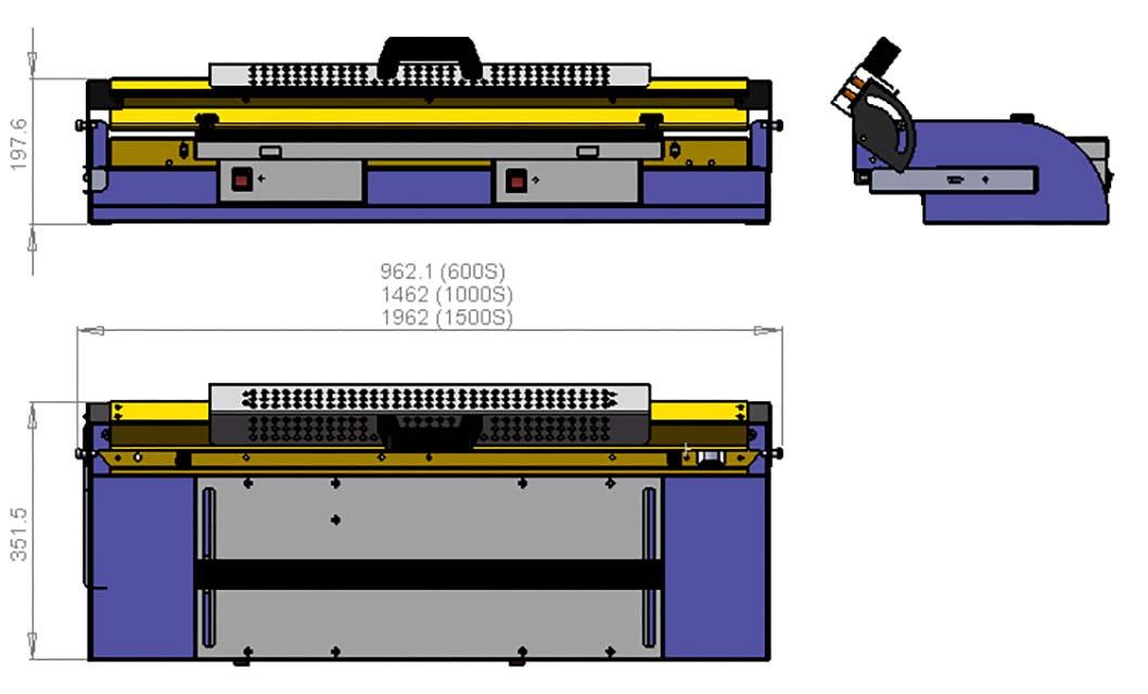Schéma machine plieuse gamme S