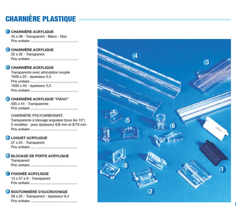 Charnière plastique