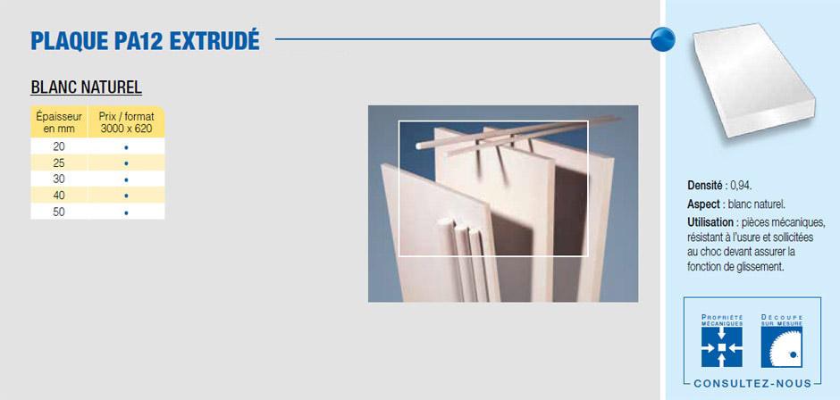 Plaque polyamide PA12