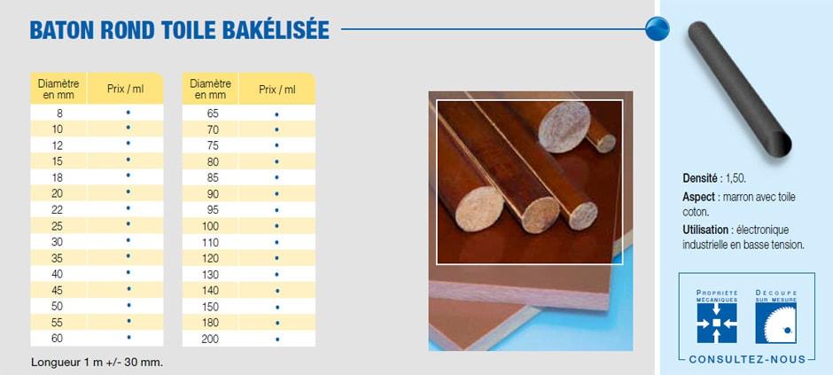 Bâton rond toile bakélisée