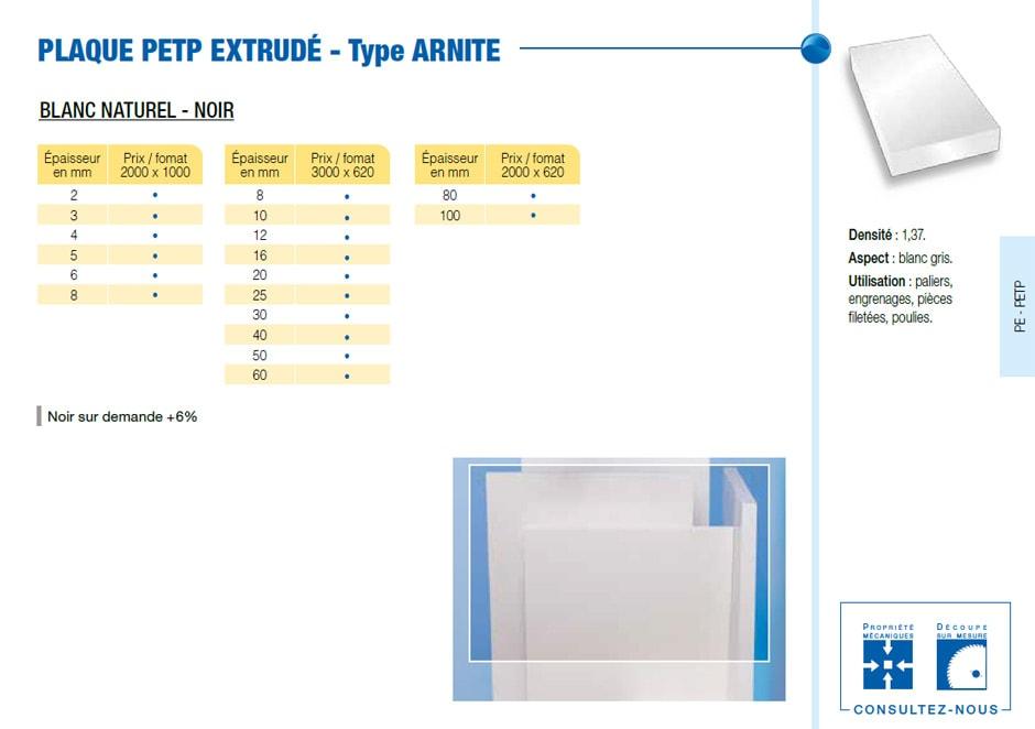 Plaque polyacetal POM C - extrudé