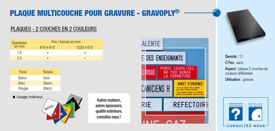 Plaque multicouche pour gravure - Gravoply®