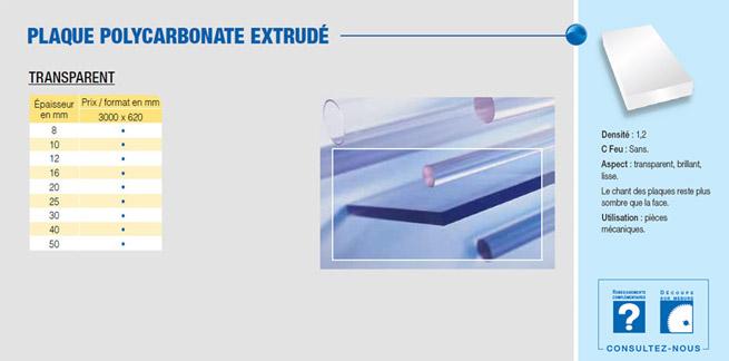 plaque PC polycarbonate résine Makrolon