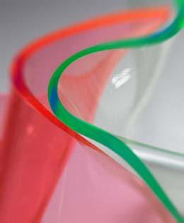 Plaque en matière plastique PMMA