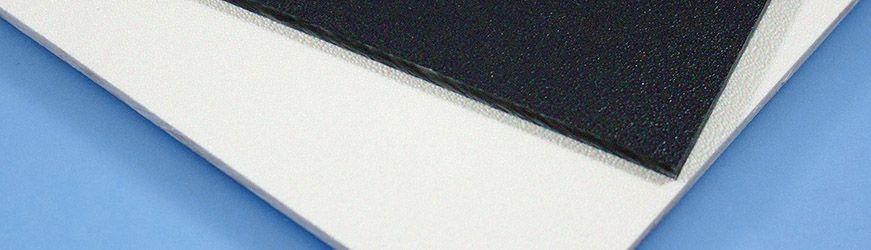 Plaque plastique en ABS grainé