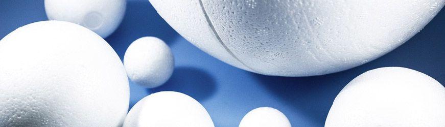 sphère (boule) en polystyrène expansé creuse et pleine