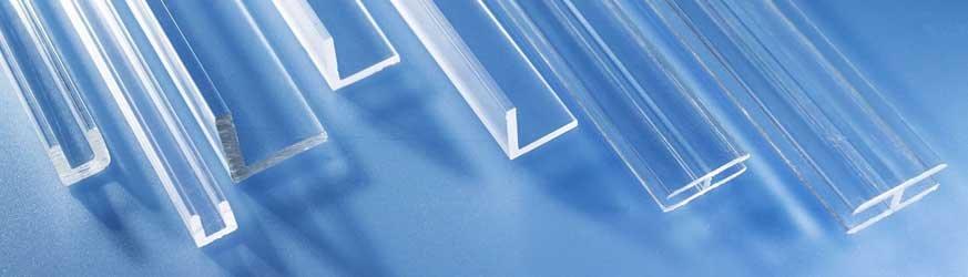 Profilé en plastique PMMA extrudé transparent